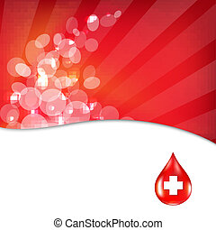 Red Background With Red Drop Blood