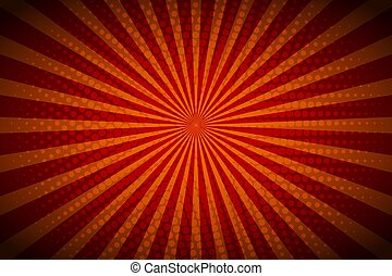 Red background with retro rays