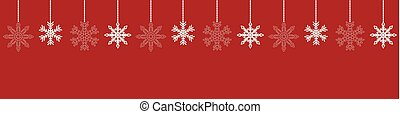 red background with snowflake christmas decoration