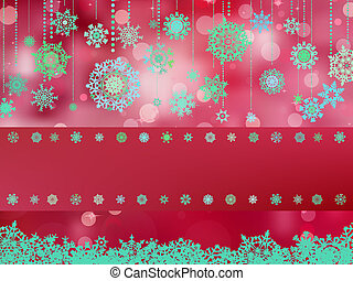Red background with snowflakes. EPS 8