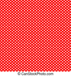 Red background with white polka dots pattern