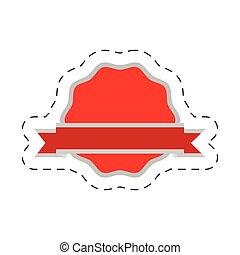 red badge ribbon sticker