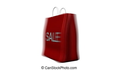 Red bag anoouncing Sales - 3D Red bag announcing Sales