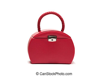 Red bag is isolated on white background