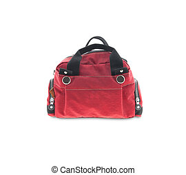 Red Bag isolated on a white background.