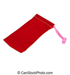 Red bag. Isolated on white