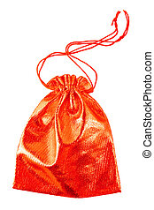 red bag isolated on white with clipping paths
