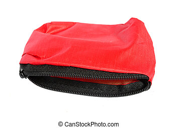 red bag isolated