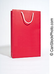 Red bag on white backgroung