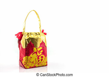 Red bag. - Red lucky bag, symbol for chinese new year.