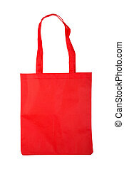 red bag shopping. isolated on white background
