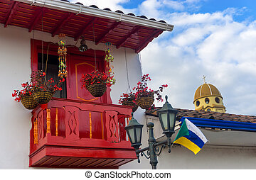 Red Balcony and Church Dome