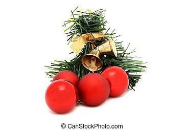 Red ball christmas tree toy