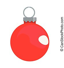red ball decoration on white background
