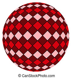 Red ball isolated on a white backgr