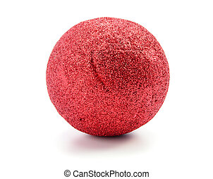 Red ball isolated on white background