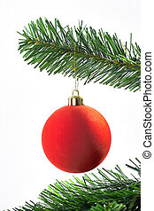 Red ball - red ball christmas decoration