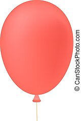 red ballon isolated on white background. concept of cheerful...