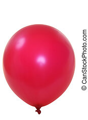 Red ballon - Red big balloon isolated on white background...
