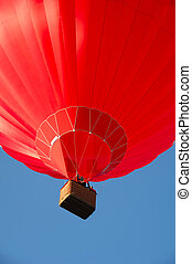 Red balloon and basket
