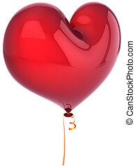 Red balloon as heart shape