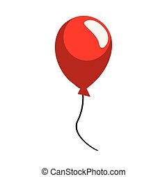 red balloon decoration on white background