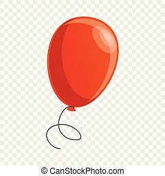 Red balloon icon, cartoon style