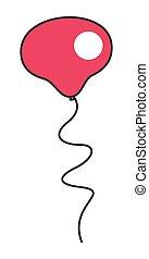 Red Balloon Vector Design
