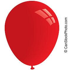Red balloon. Vector