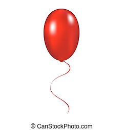 Red balloon vector illustration on a white background