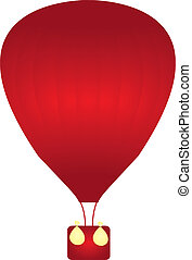 balloons - red balloons isolated over white background....