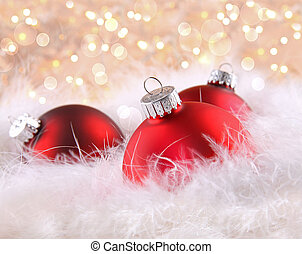 Red balls with abstract background