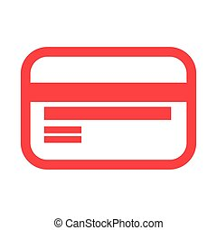 red bank card on white background