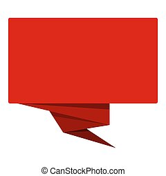 Red banner icon, flat style