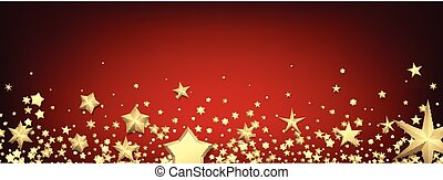 Red banner with gold stars.
