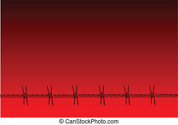 Red Barbed Wire Background