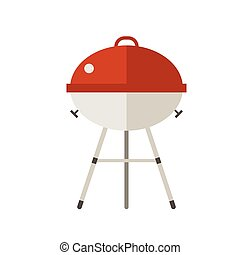 Red Barbeque Grill Icon