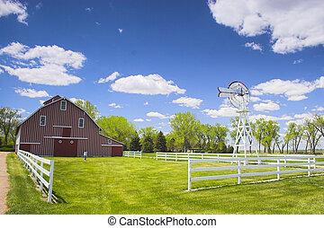 Farm shed of the famous Buffalo Bill near North Platte in Nebraska