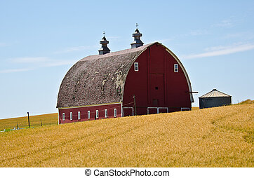 Red Barn on a Hill 2