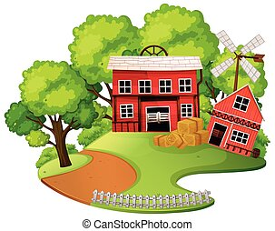 Red barn outdoor scene