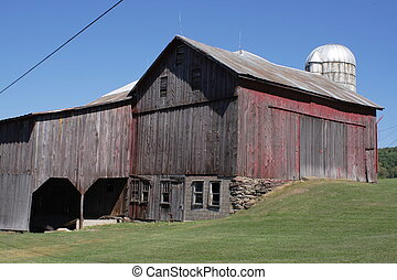 Red Barn - A very well kept old barn in need of a paint job.