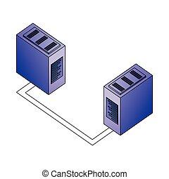red, base de datos, servidor, conexión, centro de datos