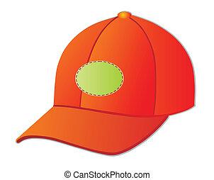baseball cap - Red baseball cap