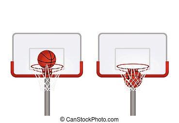 Red basketball basket