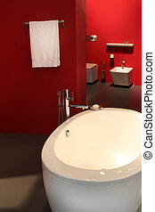 red bath-room