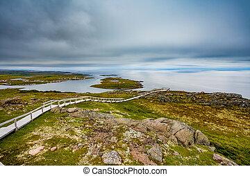 Red Bay coastal Landscape Labrador Canada