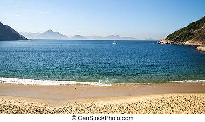 Red Beach - Rio de Janeiro's Praia Vermelha in a cool winter...