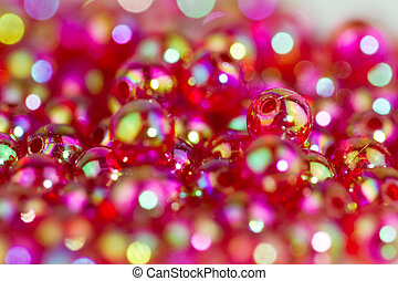 red beads background III