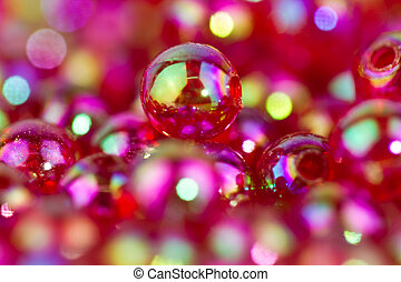 red beads background