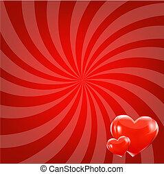 Red Beams And Hearts